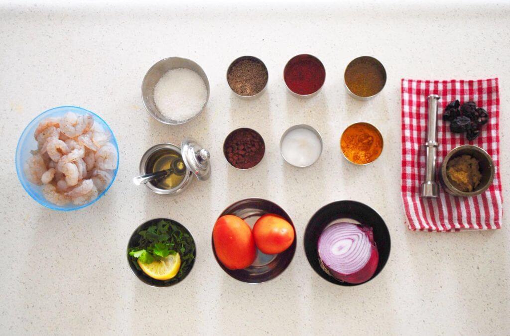 Prawns Curry Ingredients