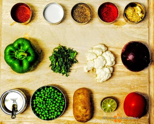 pav bhaji ingrediants