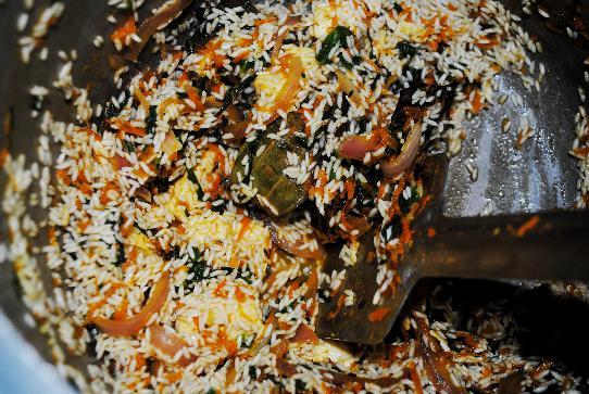 stir rice