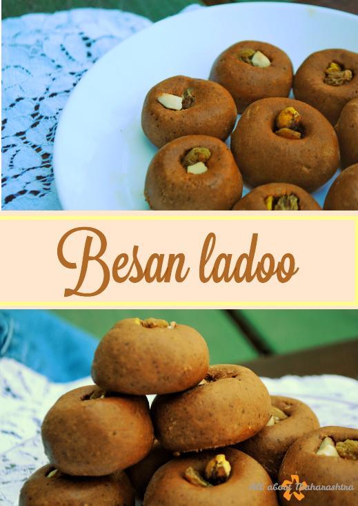 besan ladoo - maharashtrian sweet