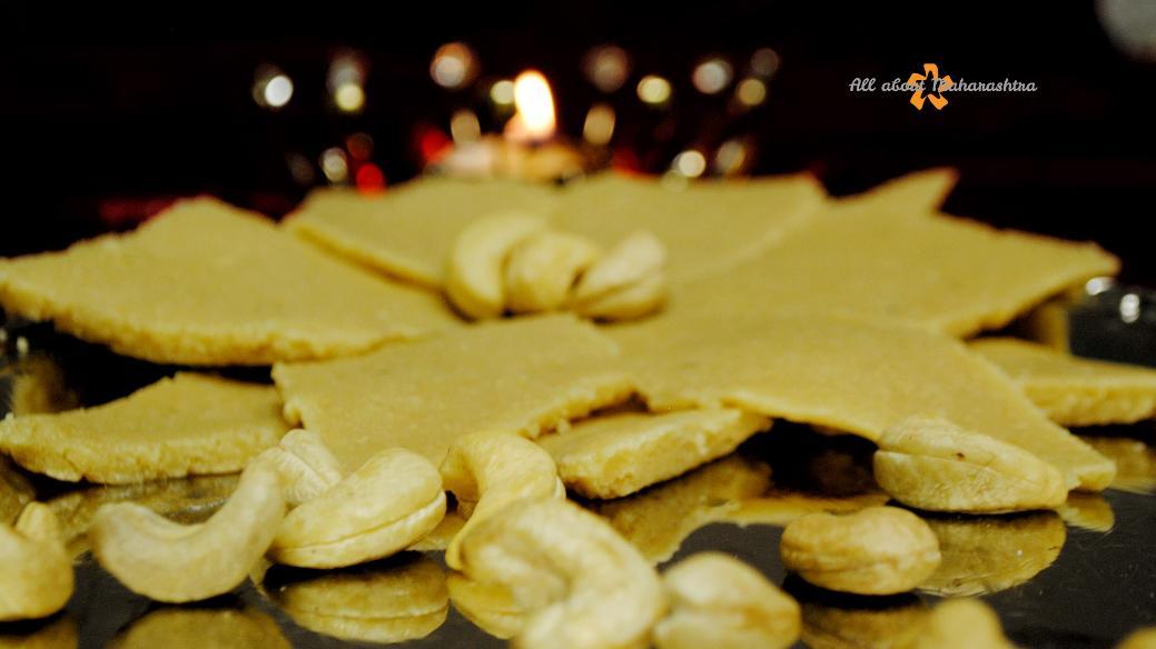 Kaju katli or kaju barfi or cashew fudge