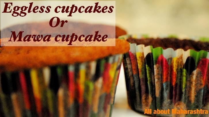 Eggless cupcake or mawa cupcake